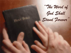 The Word of God shall stand forever